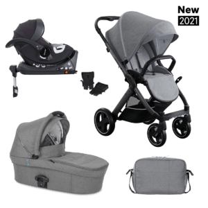 3in1 SET X-PULSE X-CAR ISOFIX – Azure Grey
